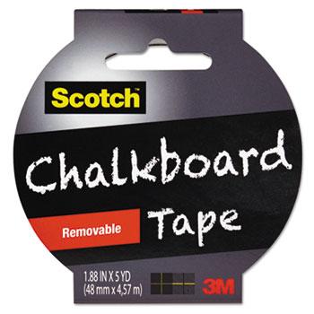 """Chalkboard Tape, 1.88"""" x 5yds, 3"""" Core, Black"""