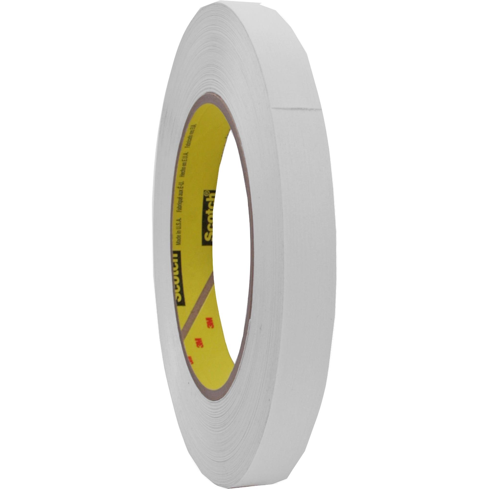 "256 Printable Flatback Paper Tape, 1/2"" x 60yds, 3"" Core, White"