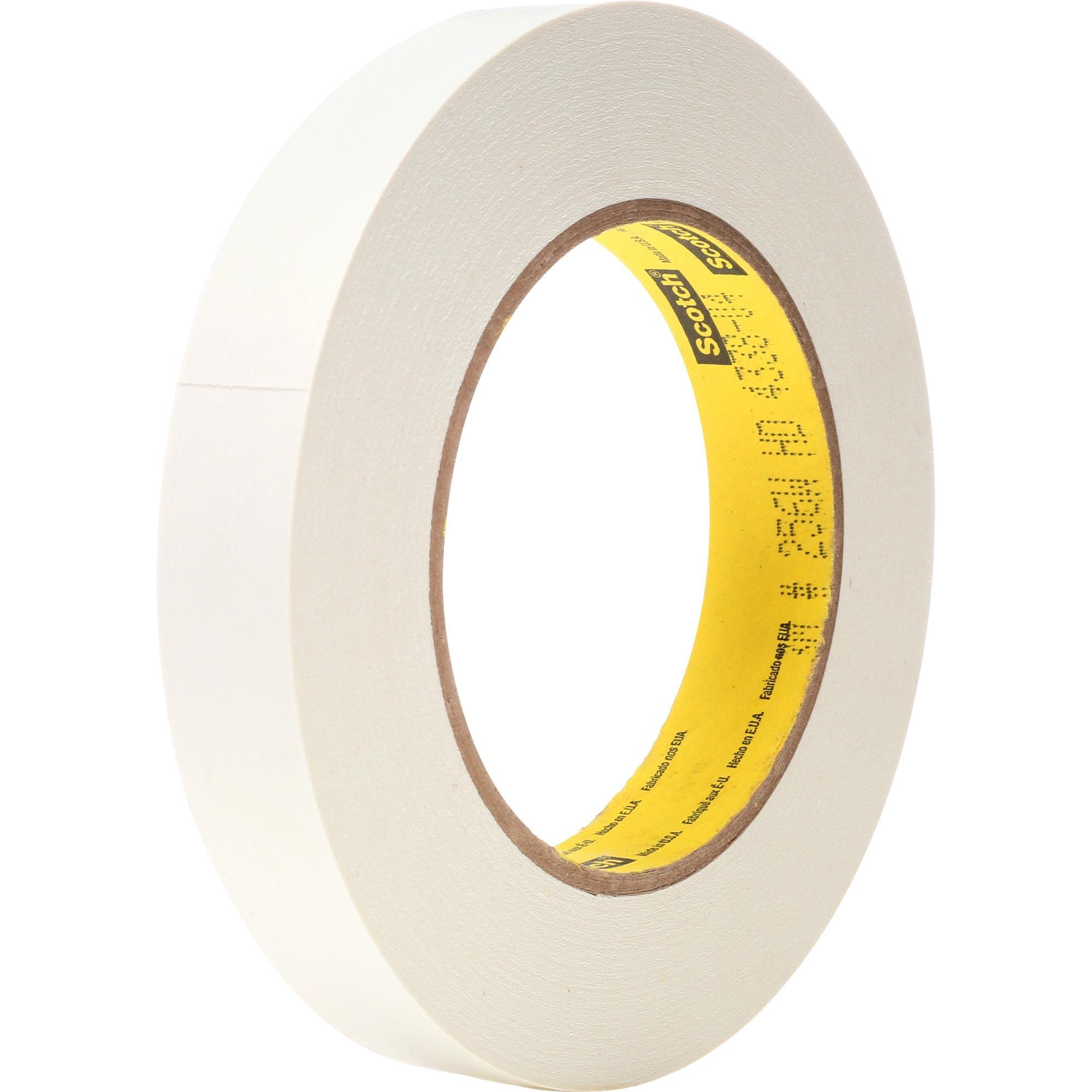 "256 Printable Flatback Paper Tape, 3/4"" x 60yds, 3"" Core, White"