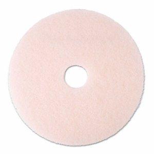 "Ultra High-Speed Eraser Floor Burnishing Pad 3600, 20"" Diameter, Pink, 5/Carton"