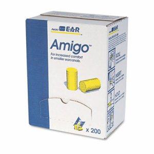 E�A�R Classic Small Earplugs in Pillow Paks, PVC Foam, Yellow, 200 Pairs