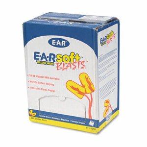 E�A�Rsoft Blasts Earplugs, Corded, Foam, Yellow Neon, 200 Pairs