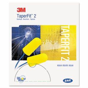 E�A�R TaperFit 2 Self-Adjusting Earplugs, Uncorded, Foam, Yellow, 200 Pairs