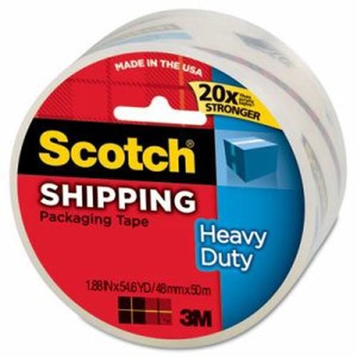 """3850 Heavy-Duty Packaging Tape, 1.88"""" x 54.6yds, 3"""" Core, Clear"""
