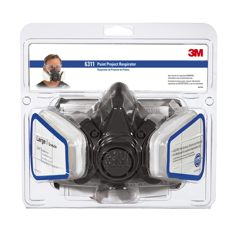 Half Facepiece Paint Spray/Pesticide Respirator, Large