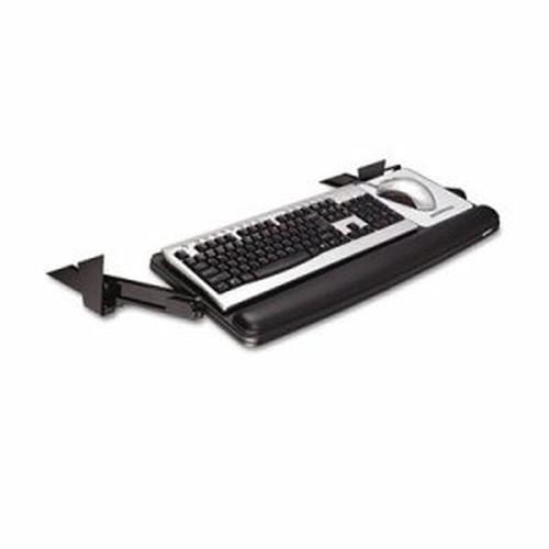 Adjustable Under Desk Keyboard Drawer, 27 3/10w x 16 8/10d, Black