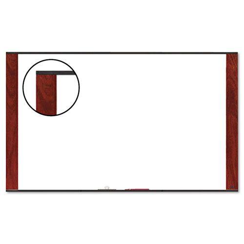 Melamine Dry Erase Board, 48 x 36, Mahogany Frame