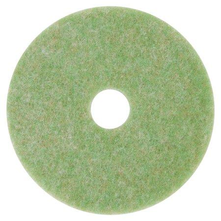 """Low-Speed TopLine Autoscrubber Floor Pads 5000, 13"""" Diameter, Green/Amber, 5/CT"""