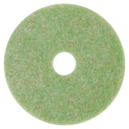 """Low-Speed TopLine Autoscrubber Floor Pads 5000, 15"""" Diameter, Green/Orange, 5/CT"""