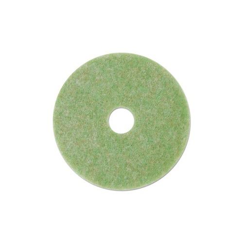 """Low-Speed TopLine Autoscrubber Floor Pads 5000, 16"""" Diameter, Green/Orange, 5/CT"""