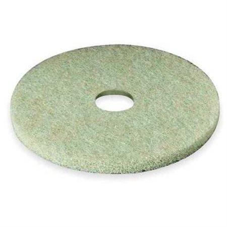 """Low-Speed TopLine Autoscrubber Floor Pads 5000, 17"""" Diameter, Green/Orange, 5/CT"""