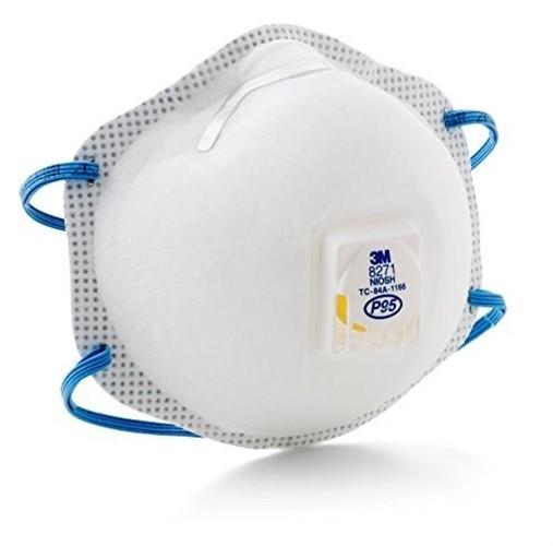 Particulate Respirator Face Mask 8271, P95, 10/Box