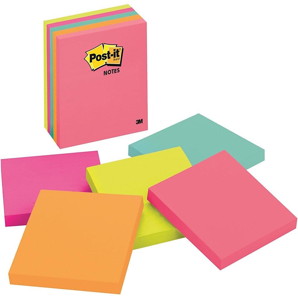 Original Pads in Cape Town Colors, 4 x 4, Plain, 100-Sheet, 5/Pack