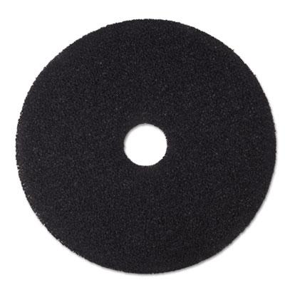 "Low-Speed Stripper Floor Pad 7200, 15"" Diameter, Black, 5/Carton"