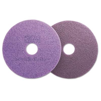 """Diamond Floor Pads, 20"""" Diameter, Purple, 5/Carton"""