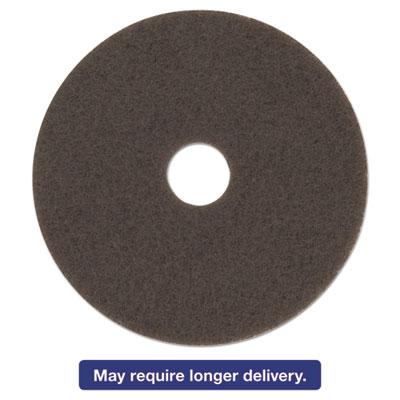 "Low-Speed High Productivity Floor Pad 7100, 15"" Diameter, Brown, 5/Carton"