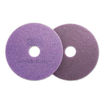 """Diamond Floor Pads, 16"""" Diameter, Purple, 5/Carton"""