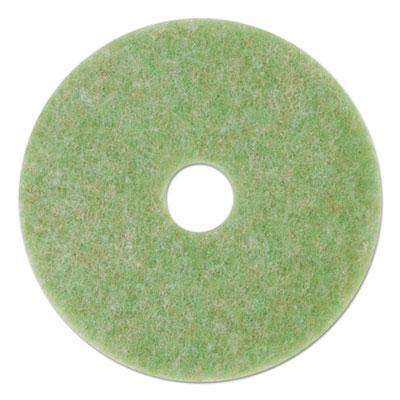 """Low-Speed TopLine Autoscrubber Floor Pads 5000, 20"""" Diameter, Green/Orange, 5/CT"""