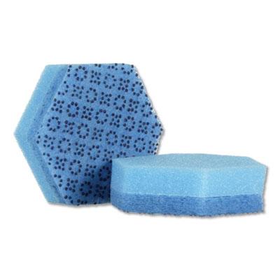 """Low Scratch Scour Sponge 3000HEX, 4.45"""" x 3.85"""", Blue, 16/Carton"""