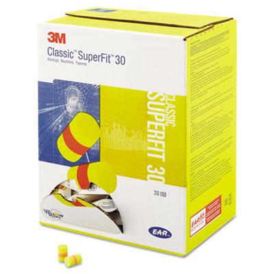 E-A-R Classic SuperFit 33 Foam Earplug, Uncorded, Pillow Pack