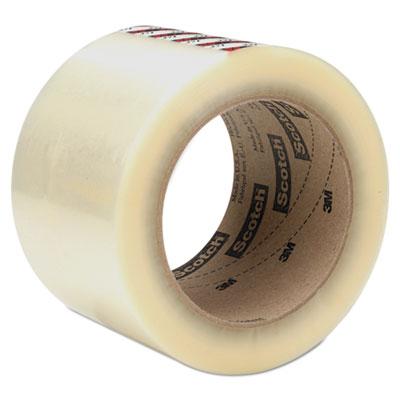 "Box Sealing Tape, 72 mm x 100 m, 3"" Core, Clear, 24/Carton"