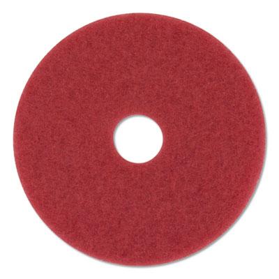"Buffer Floor Pads 5100, 20"" Diameter, Red, 10/Carton"