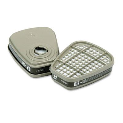 6001 Respirator Cartridge for Certain Organic Vapors, 2/Pack