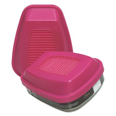 60921 Respirator Cartridge/P100 Filter for Organic Vapors/Particulates, 2/Pack