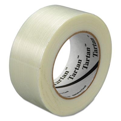 "Filament Tape, 48 mm x 55 m, 3"" Core, Clear, 24/Carton"