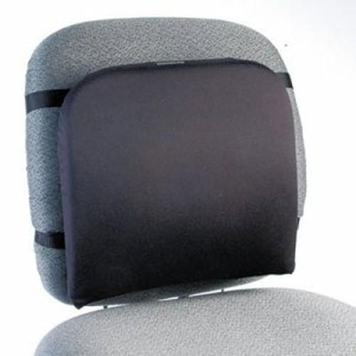 """Memory Foam Backrest, 16""""w x 12""""d x 16""""h, Black"""