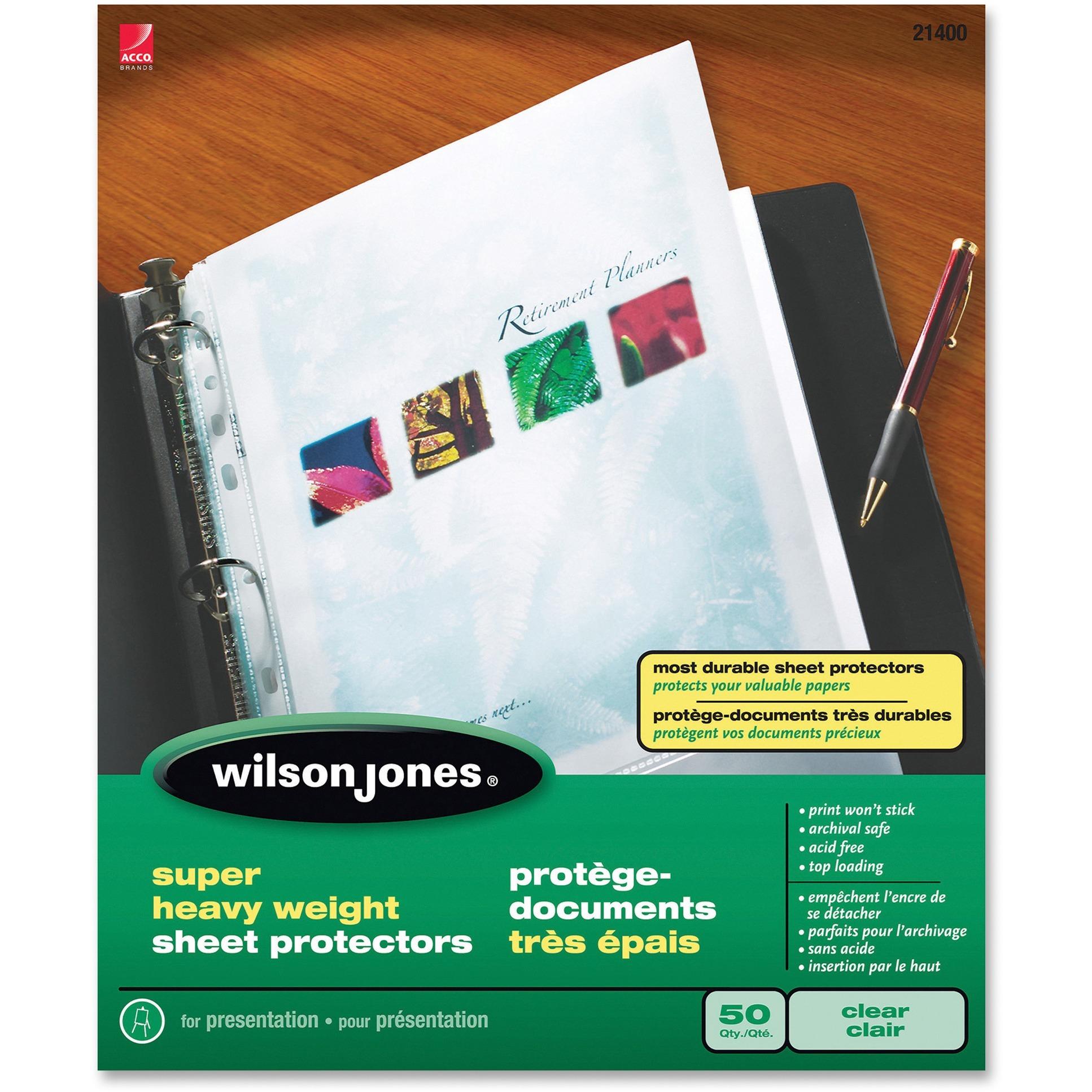 Top-Loading Super Heavy Sheet Protectors, Letter, 50/Box