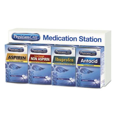 Medication Station: Aspirin, Ibuprofen, Non Aspirin Pain Reliever, Antacid