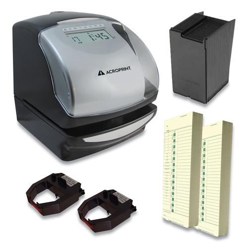 ES900 Time Clock Bundle, Digital Display, Black