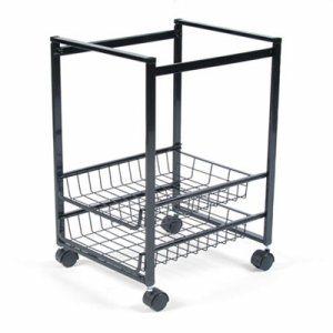 Mobile File Cart w/Sliding Baskets, 12 7/8w x 15d x 21 1/8h, Black