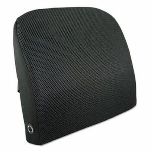 Memory Foam Massage Lumbar Cushion, 12-3/4w x 3-3/4d x 12h, Black