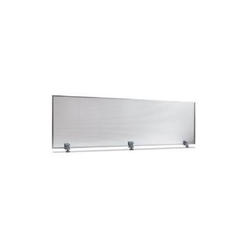 Polycarbonate Privacy Panel, 65w x 18h, Silver