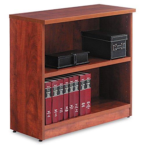 Alera Valencia Series Bookcase, Two-Shelf, 31 3/4w x 14d x 29 1/2h, Med Cherry