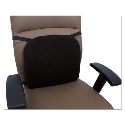 Cooling Gel Memory Foam Backrest, 14 1/8 x 14 1/8 x 2 3/4, Black