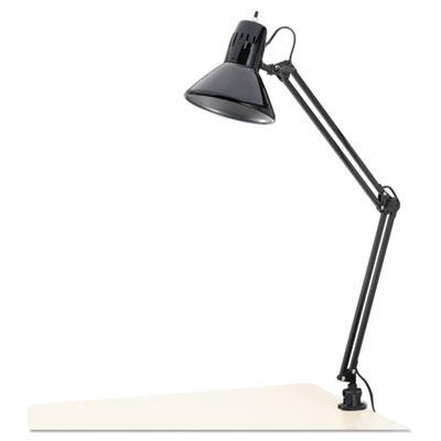"Architect Lamp, Adjustable, Clamp-on, 28"" High, Black"