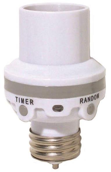 AmerTac SLC6CBC-4 Programmable Light Control Socket, 100 W, Medium Base, White
