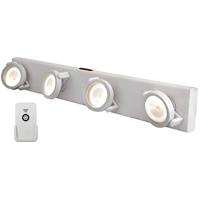 TRACK LIGHT LED W/REMOTE WHITE