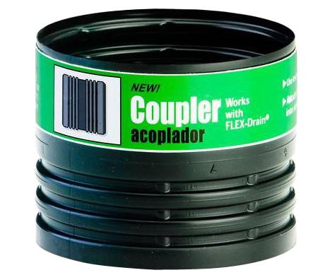 Amerimax 55020 Flexible Drain Pipe Coupler, 4 in, Female, 70 psi, Polypropylene