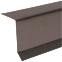 Amerimax 5762219120 Drip Edge, 2 in W x 2 in H x 10 ft L x 29 ga T, Brown