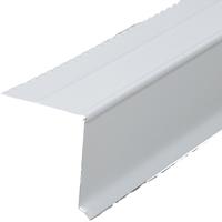 Amerimax 5762200120 Drip Edge, 2 in W x 2 in H x 10 ft L x 29 ga T, White