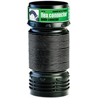 Amerimax 57010 Flexible Pipe Elbow Connector, 4 in, 70 psi, Polypropylene