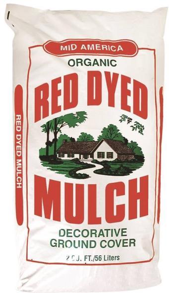 Ameriscape 33333 Dyed Mulch, 2 cu-ft, Bag, Red
