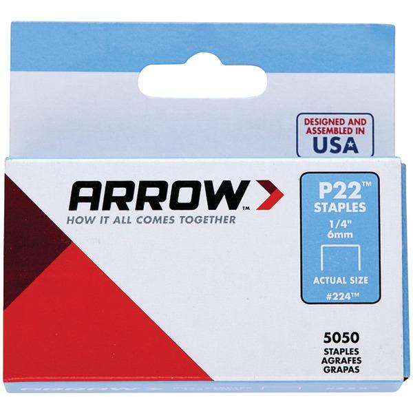 Arrow 224 P22 Plier Staples, 5,050 pack (1/4 Inches)