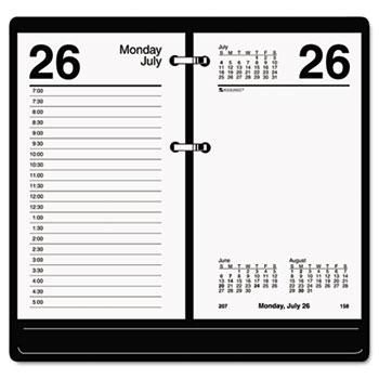Recycled Desk Calendar Refill, 3 1/2 x 6, White, 2017