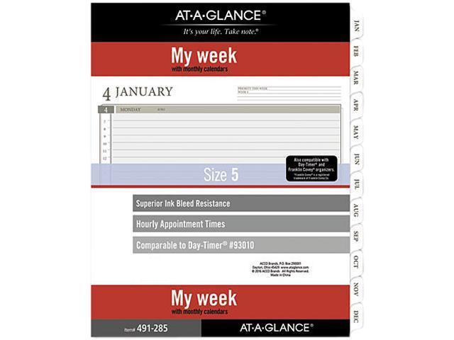 2-Page-Per-Week Planner Refills, 11 x 8.5, White, 2021