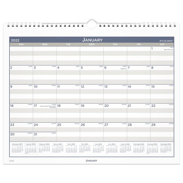 Multi Schedule Wall Calendar, 15 x 12, 2022